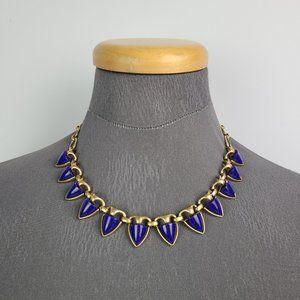 Stella & Dot Lottie Navy & Gold Necklace